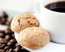 Free Biscotti And A Cup Of Coffee Royalty Free Stock Photo - 14480985