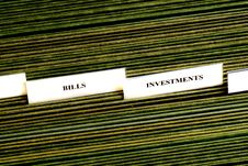 Investments Filing Tabs Stock Photo