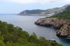 Cala D En Serra In Ibiza Royalty Free Stock Photo