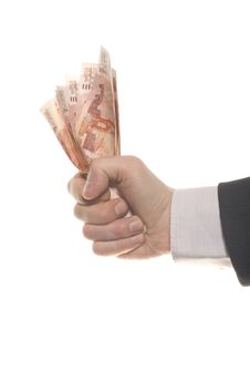 Businessman Hand With Money Royalty Free Stock Photography