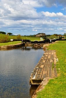 Free Lock Gates On The Lancaster Canal Stock Photography - 14481362