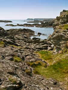 Free Anglesea Wales Coastal Path Sea View Stock Image - 14481511