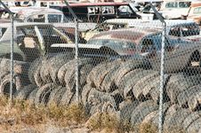 Auto Salvage Yard Stock Image