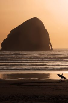 Free Sunset Surfer Royalty Free Stock Image - 14481966