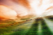 Free Sunset On The Hill Royalty Free Stock Photography - 14482547