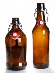 Free Old Beer Bottles Royalty Free Stock Image - 14482706