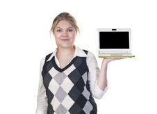 Attractive Blond Business Woman Stock Photos
