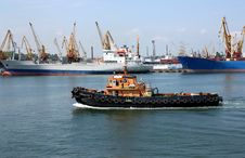 Free Moving Tugboat Stock Photography - 14483282