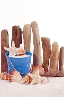Beach Concept -- Pail Stock Photography