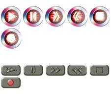 Buttons For The Player Stock Photos