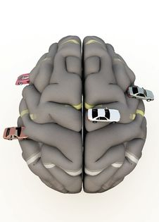Free Car Brain Royalty Free Stock Photos - 14483578