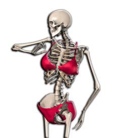 Free Skeleton In A Bikini Stock Photos - 14483703