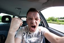 Free Aggressive Car Drivers Stock Images - 14483854