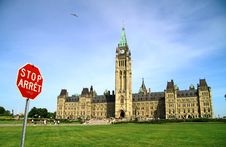 Canada Parliament Historic Building Royalty Free Stock Photo