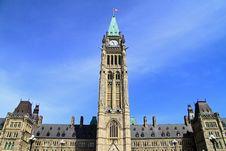 Canada Parliament Historic Building Stock Image