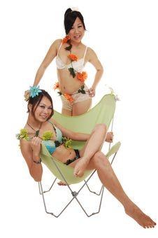 Free Two Beautiful Chinese Girls. Royalty Free Stock Photos - 14485088