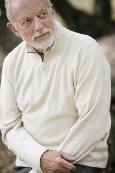 Senior Man Outdoors Royalty Free Stock Photos