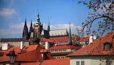 Free Hradcany Over The Rooftops, Prague Royalty Free Stock Images - 14485389