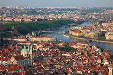 Panorama Of Prague Royalty Free Stock Image