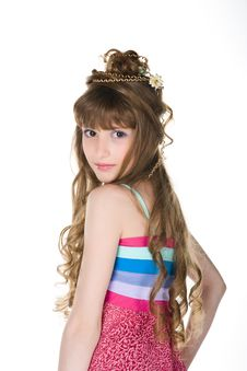 Cute  Little  Princess Stock Image