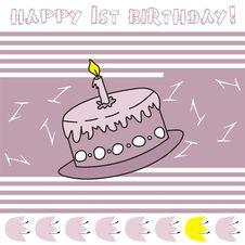 Free Happy 1st Birthday! Royalty Free Stock Image - 14487596