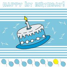 Free Happy 1st Birthday! Stock Photos - 14487603
