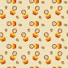 Free Seamless Pattern With Russian Dolls Royalty Free Stock Photos - 14487628