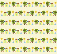 Funny Seamless Pattern Stock Photo