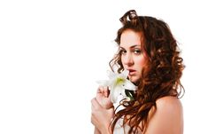 Free Beautiful Alluring Young Girl In White Stock Photos - 14488203