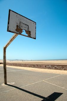 Free Dreamy Days On The Slam Dunked Beach Court Stock Photos - 14488383