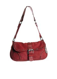 Free Red Leather Woman Handbag Royalty Free Stock Photo - 14488445