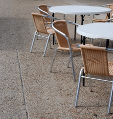 Free Closed Cafe Tables And Chairs Stock Images - 14489014