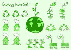 Free Ecology Icon Set Royalty Free Stock Images - 14489179