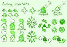 Ecology Icon Set 3 Stock Photos