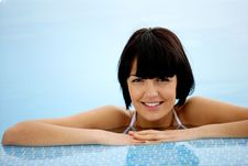 Free Closeup Of Woman In Pool Royalty Free Stock Photo - 14489525