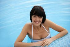 Free Closeup Of Woman In Pool Royalty Free Stock Image - 14489526
