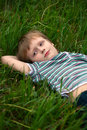 Free The Little Boy Has Rest Stock Photo - 14496950