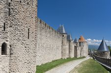 Carcassonne Walls Royalty Free Stock Photos
