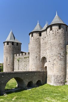 Carcassonne Fortifications Stock Photos