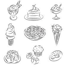 Free Vector Sketch Royalty Free Stock Photos - 14490678