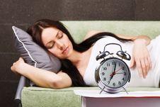 Free Beautiful Woman Sleeping Stock Photos - 14490693