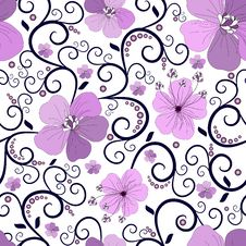 Free Seamless Floral Pattern Royalty Free Stock Photo - 14490965