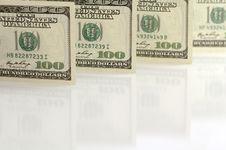 One Hundred Dollar Notes Stock Photo