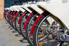 Rent A Bike Royalty Free Stock Images