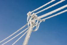 Free Hoar Frost On The Telephonic Line Royalty Free Stock Images - 14491809