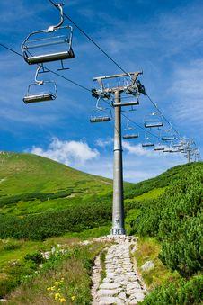 Ski Lift In Summer Royalty Free Stock Photo