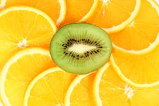 Free Kiwi And Orange Royalty Free Stock Images - 14491969