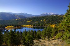 Scenic Landscape In Rocky Mountains Stock Photos