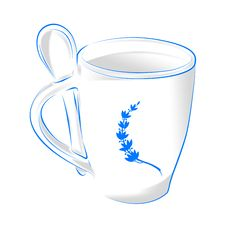Free Blue Coffee Cup Royalty Free Stock Photos - 14492158