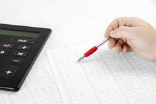 Free Calculating Financial Data Royalty Free Stock Photo - 14492435
